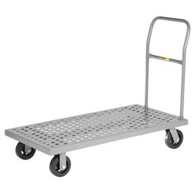 Little Giant® Platform Truck Perforated Deck T-520-P-1H - 24 x 48 - Flush Edge - MORT Wheels