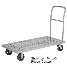 Little Giant® Platform Truck T-710-P-1H-UPS - Perforated Deck -24 x 36 - Flush Edge - Poly