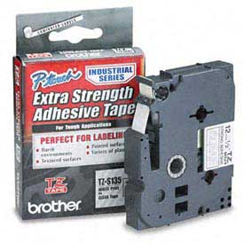 TZ Extra-Strength Adhesive Tapes-Laminated, White on Clear, 1/2w