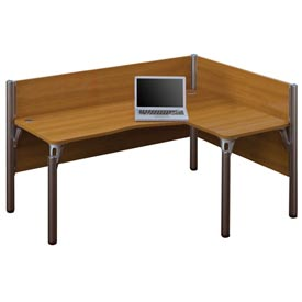"Bestar® Right L-Desk Workstation - 43""H - Cappuccino Cherry - Pro-Biz Series"