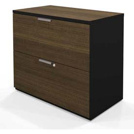 Bestar® Pro-Concept Lateral File (RTA) in Milk Chocolate Bamboo & Black