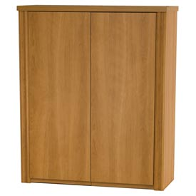 "Bestar® 2-Door Cabinet Hutch for Lateral File - 30"" - Cappuccino Cherry - Embassy Series"