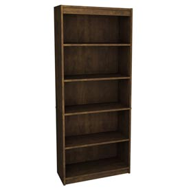 "72"" Bookcase with 5 Shelves in Chocolate"