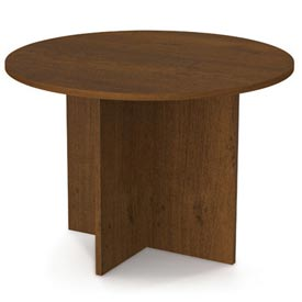 "Bestar 42"" Round Meeting Table - Tuscany Brown"