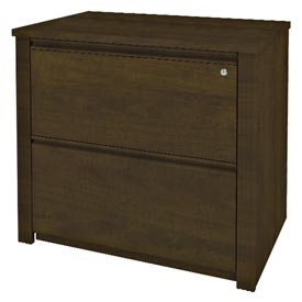 "Bestar® Lateral File Cabinet - 36"" - Chocolate - Prestige+"