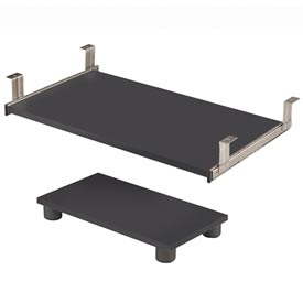 Bestar® Keyboard Shelf and CPU Platform in Bordeaux & Graphite - Prestige+