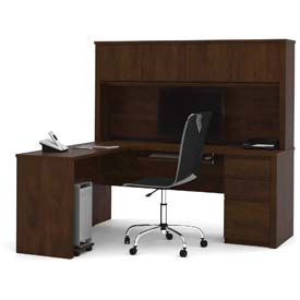 Desks Office Collections Bestar 174 L Desk With Hutch