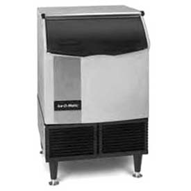 Cube Ice Maker, Undercounter, Water-Cooled, Approx 251 Lb Production Half Size Cube by