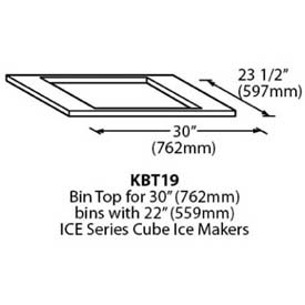 "Bin Top, For 22"" Ice Series Cuber"