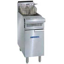 Fryer, Lp Gas, Open Pot, 40 Lb. Fat Cap, 80,000 BTU