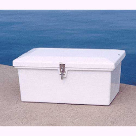 "Better Way Partners 211H XSmall Outdoor Dock Storage Box, 25""L x 16-1/2""W x 10-1/2""H, White"