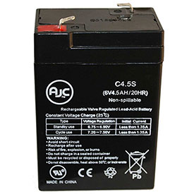 AJC®  Streamer-Power Fire Vulcan 6V 4.5Ah Sealed Lead Acid Battery