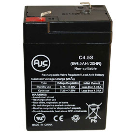 AJC Panasonic LCR064R2P 6V 4.5Ah Sealed Lead Acid Battery by