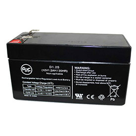 AJC Panasonic LCR121R3PU 12V 1.2Ah Sealed Lead Acid Battery by