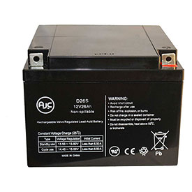 AJC Panasonic LCR12V20P 12V 26Ah Sealed Lead Acid Battery by