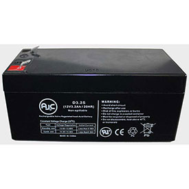 AJC Panasonic LCR123P4PU 12V 3.2Ah Sealed Lead Acid Battery by