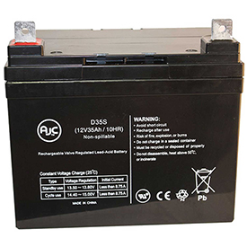 AJC Industrial AGM Golf Cart etc 12V 35Ah Wheelchair Battery by