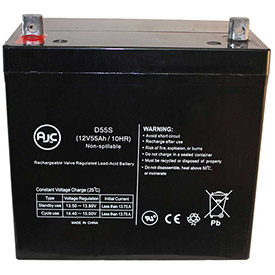 Click here to buy AJC Golden Technologies Compass TRO GP615SS 12V 55Ah Wheelchair Battery.