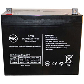 AJC Fortress Scientific Spirit Victory 12V 75Ah Wheelchair Battery by