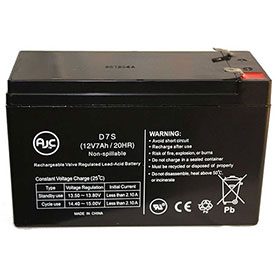 AJC Panasonic LC-R126R5PG 12V 7Ah Sealed Lead Acid Battery by