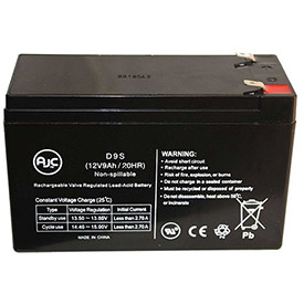 AJC Panasonic LCR129P1 12V 9Ah Emergency Light Battery by