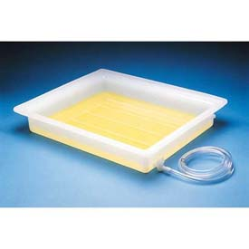 "Bel-Art Electrophoresis Fixing Tray 135540000, LDPE, Small, 16""L x 20""W x 3""H, Clear, 1/PK by"