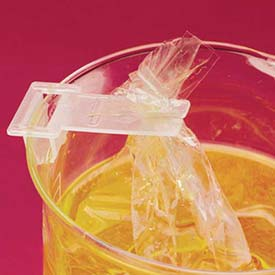 Bel-Art Dialysis Bag Holder Clips 182370000, Polypropylene, Clear, 6/PK Package Count 6 by