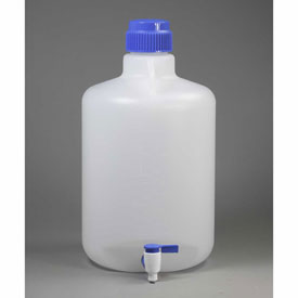 Bel-Art Autoclavable Carboy with Spigot 118460050, Polypropylene, 20 Liters, White, 1/PK by