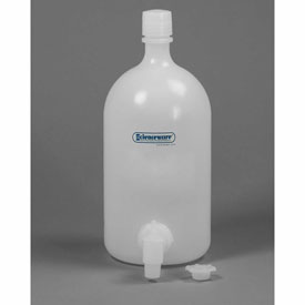 Bel-Art Carboy with Spigot 118470010, LDPE, 4 Liters, White, 1/PK Package Count 6 by