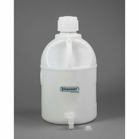 Bel-Art Carboy with Spigot 118470050, HDPE, 20 Liters, White, 1/PK Package Count 4 by