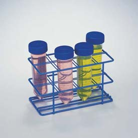 Bel-Art Poxygrid 50ml Centrifuge Tube Rack 187940000, For 25-30mm Tubes, 8 Places, Blue 1/PK Package Count 12 by
