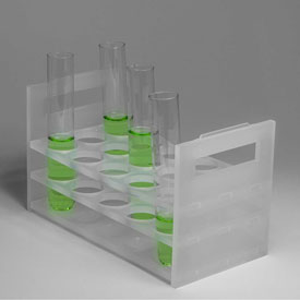 Bel-Art Heavy Duty PP Test Tube Rack 188580000, For 20-25mm Tubes, 18 Places, Clear, 1/PK Package Count 6 by
