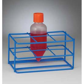 Bel-Art Centrifuge Tube Rack 198560250, For Conical/Round Bottom 250ml Tubes, 6 Places, Blue, 1/PK by