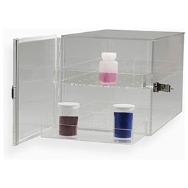 "Bel-Art F42066-0000 Clear Acrylic Desiccator Cabinet, 0.82 Cu. Ft., 3 Shelves, 12""L x 12""W x... by"