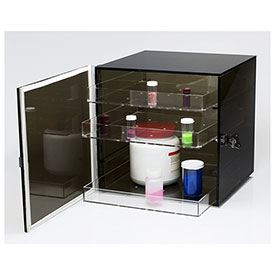 "Bel-Art F42066-0001 Bronze Acrylic Desiccator Cabinet, 0.82 Cu. Ft., 3 Shelves, 12""L x 12""W x... by"