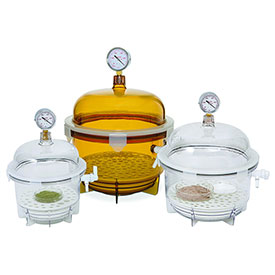 Bel-Art F42400-2021 Lab Companion Clear Polycarbonate Round Style Vacuum Desiccator, 6 Liter by