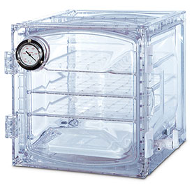 Bel-Art F42400-4011 Lab Companion Clear Polycarbonate Vacuum Desiccator Cabinet, 35 Liter by