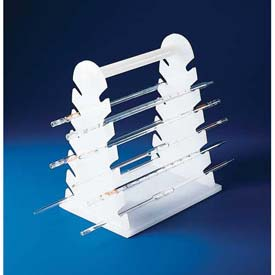 "Bel-Art Pipette Support Rack 189600000, Polyethylene, 12 Places, 9-1/2""L x 7""W x 11-1/2""H, 1/PK by"