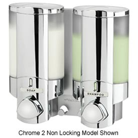 Aviva III Chrome, Translucent Bottles With Chrome Buttons/Locking Lid - Pkg Qty 6