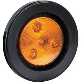 """2-1/2"""" Round 1 Led Amber Marker Light W/ Grommet & Plug Min Count 6 by"""