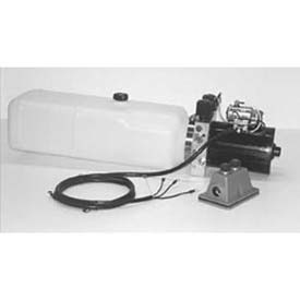 """Buyers Electric 4-Way Function DC Power Unit, PU642LR, 1.87 Gal Poly Reservoir, .250"""" NPTF Outlets by"""