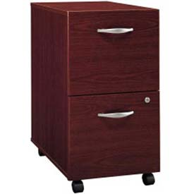 Bush Furniture Two Drawer File Cabinet (Unassembled) - Mahogany - Series C