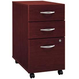 Bush Furniture Three Drawer File Cabinet (Unassembled) - Mahogany - Series C