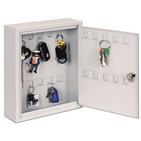 Sandusky Buddy 0128-32 - 28 Hook Key Cabinet - Platinum