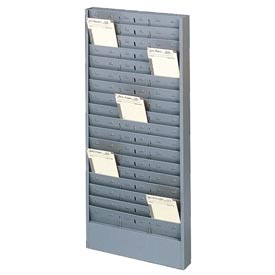 Time Card Rack with Adjustable Pockets - Gray
