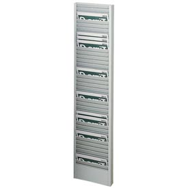 Horizontal 40 Pocket Badge Rack - Platinum