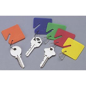 Sandusky Buddy 0011 - 15 Blank Plastic Key Tags - Assorted Colors - Pkg Qty 12