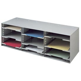 12 Compartment Adjustable Shelf Sorting Rack - Platinum