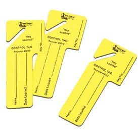 Sandusky Buddy 0012 - 24 Key Loaned Tags - Yellow - Pkg Qty 12