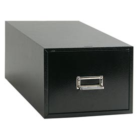 "Single Drawer Card File for 6"" X 9"" Index Cards - Black"